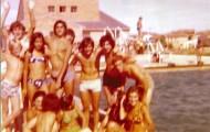 Foto de grupo en la piscina de Mayorga