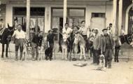 Foto de cazadores en Mayorga 1973