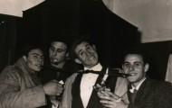 Foto de grupo en el Carnaval de Mayorga en 1970