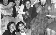 Mayorganas celebrando una merienda de catequesis