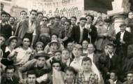 Foto de grupo en las fiestas de Mayorga de 1955