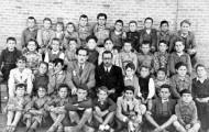 Don Hipólito y sus alumnos en Mayorga