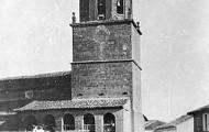 Foto de la plaza de Mayorga en fiestas 1955