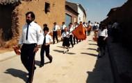 Foto de la banda de Cornetas y Tambores de Mayorga en Cabezón de Valderaduey 1990