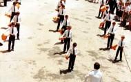 Foto de la banda de cornetas y tambores de Mayorga en 1990