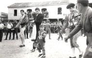 Foto de los toreros en el paseillo durante las fiestas de Mayorga