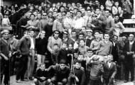 Foto de grupo en las fiestas de Mayorga 1959