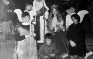 Foto del portal de Belén en Mayorga 1968