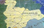 Foto del mapa de Valladolid que está en la Plaza España de Sevilla