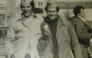 Foto de los quintos de Mayorga en 1979