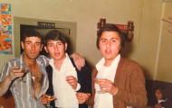 Amigos en Mayorga Bar Borona 1986