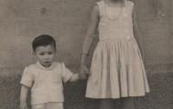 Lola y Nanin Blanco Feria Carros Mayorga 1958