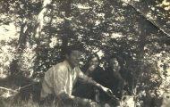 Pedro, Manuela y Cira en Mayorga 1966