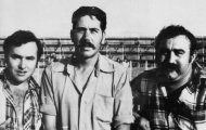 Ignacio Cirpi y Gordi en las fiestas de Mayorga 1976