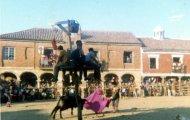 Rueda y torero en Mayorga 1970