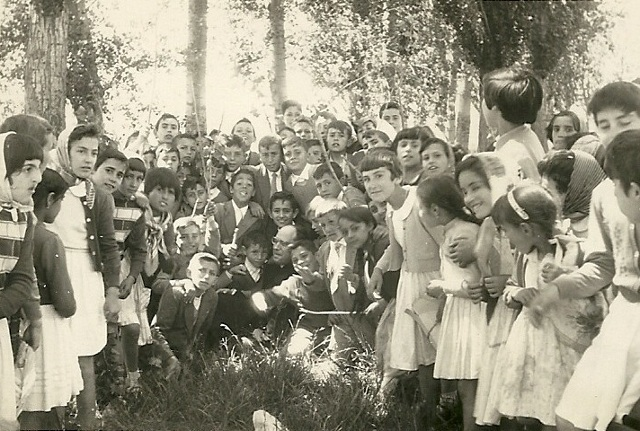 Jóvenes de Merienda en Castilleja 1960