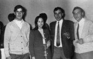 Amigos en Mayorga 1971 Vicente de la Viuda, Tina, Ignacio Pascual y Lorenzo Rueda