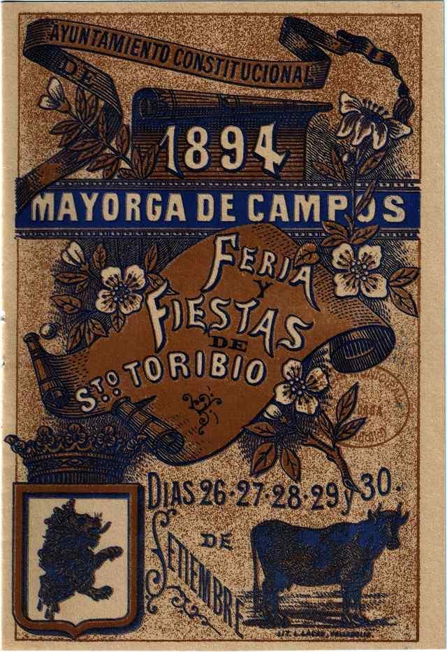 Portada programa fiestas Mayorga 1894