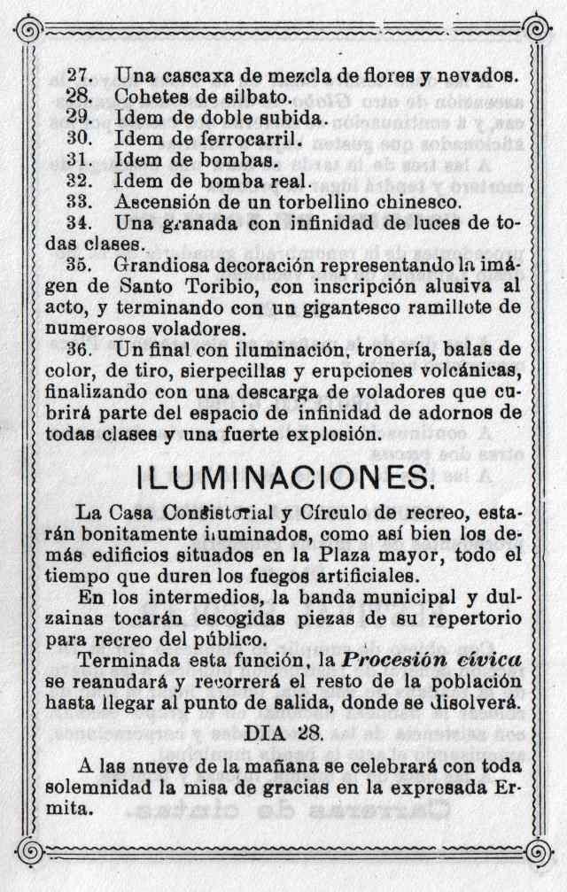 Programa Fiestas Mayorga 1984 05
