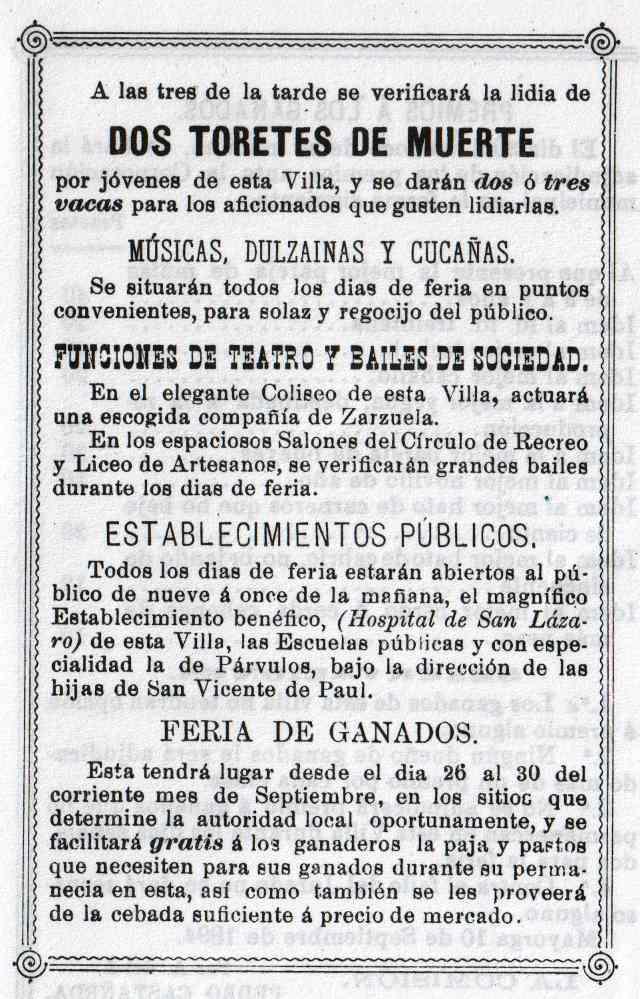 Programa Fiestas Mayorga 1984 07