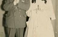 Jose y Maria Luisa Trigueros en Mayorga de cominión 1958