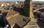 Foto aérea Iglesia Santa Maria del Mercado Mayorga 2014