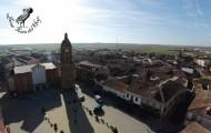 Vista aérea de la Plaza España de mayorga 2014