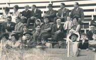 Mi abuelo Aurelio, mi madre Teyita y yo Inma García Pérez en los toros de Mayorga 1965