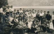 Mayorganos celebrando san blas o san anton 1962
