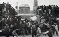 Mozos entrando en la Plaza de toros Mayorga 1989