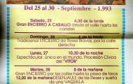programa mano festejos taurinos Mayorga 1993