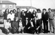 Foto de los quintos de Mayorga nacidos en 1962. Año 1980