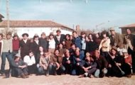 Foto de los quintos de Mayorga nacidos en 1962. 1980