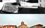 Foto del corrillo del templo de Mayorga antes y en el 2017