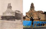 Fotografía de la ermita de Santo Toribio en los años 70 y la misma foto en 2017