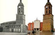 Iglesia de Mayorga en los años 70 y en 2017