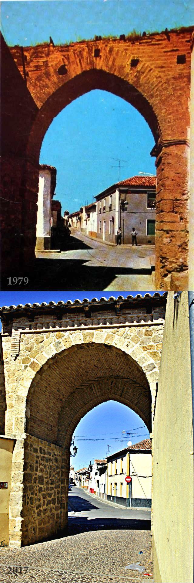 Foto comparativa Arco Mayorga 1979 2017