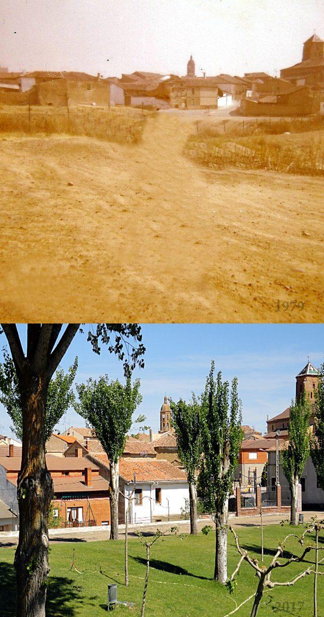 Polideportivo Mayorga 1979 y 2017