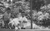 José, Ricardo y Nando Solís en el Mirador de Mayorga 1959