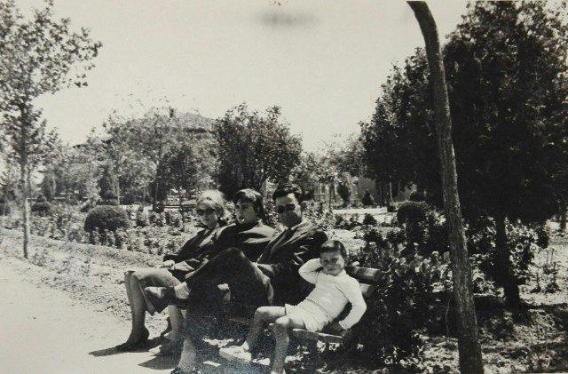 Mari Tere Rodríguez y Jose Luis Daniel en el Mirador de Mayorga 1964